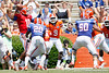 Florida redshirt freshman quarterback Tyler Murphy looks to pass during the Gators' spring football game on Saturday, April 9, 2011 at Ben Hill Griffin Stadium in Gainesville, Fla. / Gator Country photo by Tim Casey