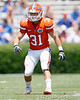 Florida senior cornerback Brian Biada drops into pass coverage during the Gators' spring football game on Saturday, April 9, 2011 at Ben Hill Griffin Stadium in Gainesville, Fla. / Gator Country photo by Tim Casey