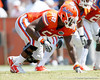 Florida sophomore defensive tackle Dominique Easley lines up during the Gators' spring football game on Saturday, April 9, 2011 at Ben Hill Griffin Stadium in Gainesville, Fla. / Gator Country photo by Tim Casey