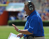 UF offensive coordinator Charlie Weis talks during the 2011 Orange and Blue Debut at Ben Hill Griffin Stadium on Saturday, April 9, 2011.  / Gator Country photo by Harrison Diamond