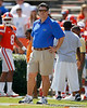 Florida offensive line coach/running game coordinator Frank Verducci watches warmups before the Gators' spring football game on Saturday, April 9, 2011 at Ben Hill Griffin Stadium in Gainesville, Fla. / Gator Country photo by Tim Casey
