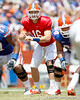 Florida freshman quarterback Jeff Driskel surveys the field during the Gators' spring football game on Saturday, April 9, 2011 at Ben Hill Griffin Stadium in Gainesville, Fla. / Gator Country photo by Tim Casey