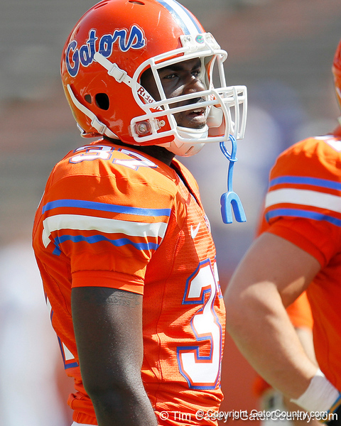 Florida sophomore cornerback Brandon Sanders warms up before the Gators' spring football game on Saturday, April 9, 2011 at Ben Hill Griffin Stadium in Gainesville, Fla. / Gator Country photo by Tim Casey