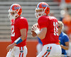 Florida freshman quarterback Jeff Driskel warms up before the Gators' spring football game on Saturday, April 9, 2011 at Ben Hill Griffin Stadium in Gainesville, Fla. / Gator Country photo by Tim Casey