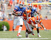 Florida redshirt senior running back/receiver Chris Rainey runs for a 21-yard gain during the Gators' spring football game on Saturday, April 9, 2011 at Ben Hill Griffin Stadium in Gainesville, Fla. / Gator Country photo by Tim Casey
