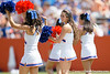 Florida cheerleaders perform before the Gators' spring football game on Saturday, April 9, 2011 at Ben Hill Griffin Stadium in Gainesville, Fla. / Gator Country photo by Tim Casey