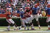 Florida redshirt sophomore receiver Stephen Alli reaches for a deep pass during the Gators' spring football game on Saturday, April 9, 2011 at Ben Hill Griffin Stadium in Gainesville, Fla. / Gator Country photo by Tim Casey