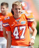 Florida redshirt sophomore kicker John Crofoot warms up before the Gators' spring football game on Saturday, April 9, 2011 at Ben Hill Griffin Stadium in Gainesville, Fla. / Gator Country photo by Tim Casey]