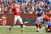 Florida redshirt senior quarterback John Brantley throws a deep pass during the Gators' spring football game on Saturday, April 9, 2011 at Ben Hill Griffin Stadium in Gainesville, Fla. / Gator Country photo by Tim Casey