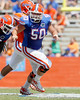 Florida redshirt junior center Sam Robey blocks during the Gators' spring football game on Saturday, April 9, 2011 at Ben Hill Griffin Stadium in Gainesville, Fla. / Gator Country photo by Tim Casey