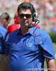 Florida offensive line coach/running game coordinator Frank Verducci looks across the field during the Gators' spring football game on Saturday, April 9, 2011 at Ben Hill Griffin Stadium in Gainesville, Fla. / Gator Country photo by Tim Casey