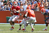 Florida redshirt senior quarterback John Brantley drops back to pass during the Gators' spring football game on Saturday, April 9, 2011 at Ben Hill Griffin Stadium in Gainesville, Fla. / Gator Country photo by Tim Casey