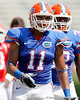 Florida redshirt sophomore tight end Jordan Reed warms up before the Gators' spring football game on Saturday, April 9, 2011 at Ben Hill Griffin Stadium in Gainesville, Fla. / Gator Country photo by Tim Casey