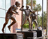 Statues commemorating Florida's Heisman Trophy winners were unveiled during the Gators' spring football game on Saturday, April 9, 2011 at Ben Hill Griffin Stadium in Gainesville, Fla. / Gator Country photo by Tim Casey
