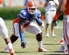 Florida redshirt freshman tackle Chaz Green warms up before the Gators' spring football game on Saturday, April 9, 2011 at Ben Hill Griffin Stadium in Gainesville, Fla. / Gator Country photo by Tim Casey