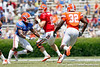 Florida freshman quarterback Jeff Driskel drops back to pass during the Gators' spring football game on Saturday, April 9, 2011 at Ben Hill Griffin Stadium in Gainesville, Fla. / Gator Country photo by Tim Casey