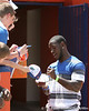 Former Florida safety Ahmad Black signs an autograph during the Gators' spring football game on Saturday, April 9, 2011 at Ben Hill Griffin Stadium in Gainesville, Fla. / Gator Country photo by Tim Casey