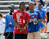 Tampa (Jefferson HS) defensive end Tyriq McCord watches warmups before the Gators' spring football game on Saturday, April 9, 2011 at Ben Hill Griffin Stadium in Gainesville, Fla. / Gator Country photo by Tim Casey