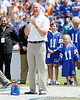 Danny Wuerffel speaks to the crowd during the Gators' spring football game on Saturday, April 9, 2011 at Ben Hill Griffin Stadium in Gainesville, Fla. / Gator Country photo by Tim Casey