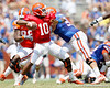 Florida redshirt freshman quarterback Tyler Murphy passes during the Gators' spring football game on Saturday, April 9, 2011 at Ben Hill Griffin Stadium in Gainesville, Fla. / Gator Country photo by Tim Casey