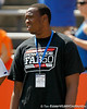 St. Thomas Aquinas' Jelani Hamilton watches warmups before the Gators' spring football game on Saturday, April 9, 2011 at Ben Hill Griffin Stadium in Gainesville, Fla. / Gator Country photo by Tim Casey