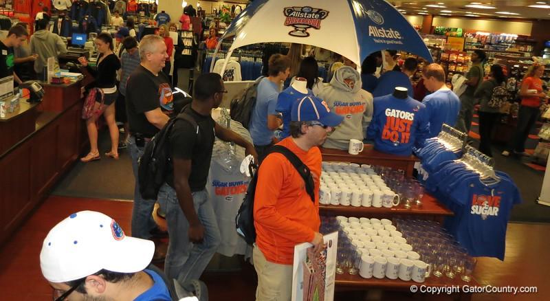 Fred Taylor at Sugar Bowl fan day