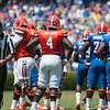Florida junior Damien Jacobs during the Gators' Orange and Blue Debut  on Saturday,  April 7, 2012 at the Ben Hill Griffin Stadium in Gainesville, Fla. / Gator Country photo by Saj Guevara