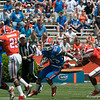 Florida senior Mike Gillislee rushing during the Gators' Orange and Blue Debut  on Saturday,  April 7, 2012 at the Ben Hill Griffin Stadium in Gainesville, Fla. / Gator Country photo by Saj Guevara