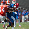 Florida junior Jaylen Watkins on defense  during the Gators' Orange and Blue Debut  on Saturday,  April 7, 2012 at the Ben Hill Griffin Stadium in Gainesville, Fla. / Gator Country photo by Saj Guevara