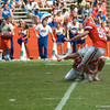 Florida junior kicker Francisco Velez during the Gators' Orange and Blue Debut  on Saturday,  April 7, 2012 at the Ben Hill Griffin Stadium in Gainesville, Fla. / Gator Country photo by Saj Guevara