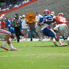Florida junior Trey Burton makes a catch for a touchdown during the Gators' Orange and Blue Debut  on Saturday,  April 7, 2012 at the Ben Hill Griffin Stadium in Gainesville, Fla. / Gator Country photo by Saj Guevara