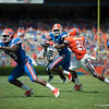 Florida red shirt senior Omarius Hines rushing  during the Gators' Orange and Blue Debut  on Saturday,  April 7, 2012 at the Ben Hill Griffin Stadium in Gainesville, Fla. / Gator Country photo by Saj Guevara