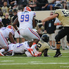 Florida redshirt senior Omar Hunter  during the Gators' 31-17 win against the Vanderbilt Commodores Saturday October 13, 2012 at the Vanderbilt Stadium in Nashville, TN. / Gator Country photo by Saj Guevara