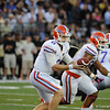 Florida sophomore Jeff Driskel during the Gators' 31-17 win against the Vanderbilt Commodores Saturday October 13, 2012 at the Vanderbilt Stadium in Nashville, TN. / Gator Country photo by Saj Guevara
