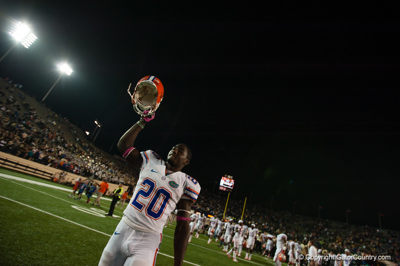 Florida  redshirt senior Omarius Hines during the Gators' 31-17 win against the Vanderbilt Commodores Saturday October 13, 2012 at the Vanderbilt Stadium in Nashville, TN. / Gator Country photo by Saj Guevara