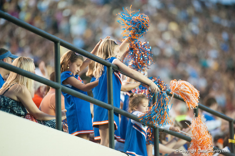 Crowd during the Gators' 31-17 win against the Vanderbilt Commodores Saturday October 13, 2012 at the Vanderbilt Stadium in Nashville, TN. / Gator Country photo by Saj Guevara