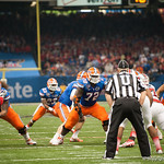 Florida   Jonotthan Harrison  during the Gators' 33-23 loss against the Louisville Cardinals Wednesday January 2, 2013 at the Mercedes-Benz Superdome in New Orleans, LA. / Gator Country photo by Saj Guevara