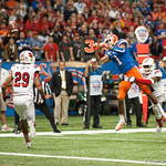 Florida   Jonathan Bostic  during the Gators' 33-23 loss against the Louisville Cardinals Wednesday January 2, 2013 at the Mercedes-Benz Superdome in New Orleans, LA. / Gator Country photo by Saj Guevara