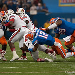 Florida  Antonio Morrison   during the Gators' 33-23 loss against the Louisville Cardinals Wednesday January 2, 2013 at the Mercedes-Benz Superdome in New Orleans, LA. / Gator Country photo by Saj Guevara