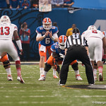 Florida  Jeff Driskel   during the Gators' 33-23 loss against the Louisville Cardinals Wednesday January 2, 2013 at the Mercedes-Benz Superdome in New Orleans, LA. / Gator Country photo by Saj Guevara