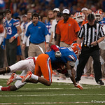 Florida   Quinton Dunbar  during the Gators' 33-23 loss against the Louisville Cardinals Wednesday January 2, 2013 at the Mercedes-Benz Superdome in New Orleans, LA. / Gator Country photo by Saj Guevara