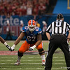 Florida  Jon Halapio   during the Gators' 33-23 loss against the Louisville Cardinals Wednesday January 2, 2013 at the Mercedes-Benz Superdome in New Orleans, LA. / Gator Country photo by Saj Guevara