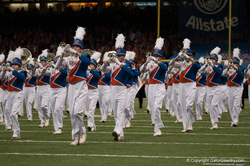 Florida Band    during the Gators' 33-23 loss against the Louisville Cardinals Wednesday January 2, 2013 at the Mercedes-Benz Superdome in New Orleans, LA. / Gator Country photo by Saj Guevara