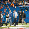 Tim Tebow Enters the Superdome    during the Gators' 33-23 loss against the Louisville Cardinals Wednesday January 2, 2013 at the Mercedes-Benz Superdome in New Orleans, LA. / Gator Country photo by Saj Guevara