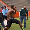 Jelani Jenkins runs the 40yard dash during UF's Pro Day on March 12, 2013 at Ben Hill Griffin Stadium in Gainesville, Florida. Representatives from all 32 NFL teams were present as current and former Gator players worked out and did drills on the field. Picture taken by Curtiss Bryant for Gatorcountry.com