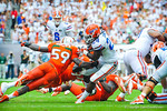RB Matt Jones gets tripped up.  Gators vs Miami.  9-7-13.