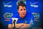 Coach Will Muschamp at the post game press conference.  Gators vs Miami.  9-7-13.