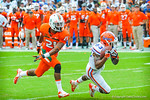 WR Solomon Patton catching the deep pass from QB Jeff Driskel.  Gators vs Miami.  9-7-13.