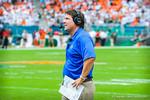 Coach WIll Muschamp.  Gators vs Miami.  9-7-13
