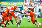 DL Dominique Easley tries to make the tackle.  Gators vs Miami.  9-7-13.